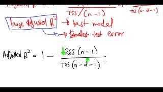 Adjusted R-Squared Estimate For Test Error
