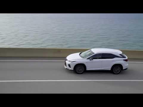 2020 Lexus RX 450h F-Sport in white Trailer