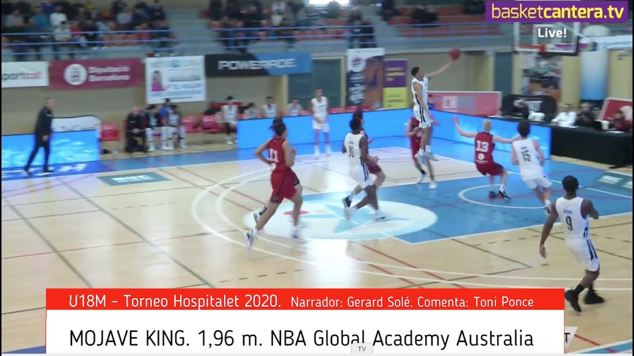 MOJAVE KING (´02) 1,96 m. NBA Global Academy Australia. Torneo Hospitalet-20 (BasketCantera.TV)