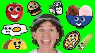 A To Z Food And Drink Chant With Matt | Learn Food And Drinks | Alphabet For Kids