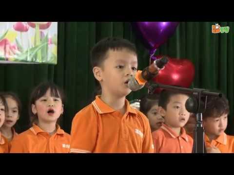 Lễ Bế giảng năm học 2018-2019 - Các bé lớp các lớp Simba hát chia tay các cô trường mầm non