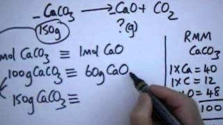 Reacting Mass: Series 4 - CaCO3(s)   --   CaO(s)  +  CO2(g).