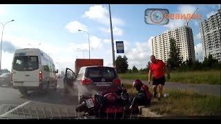 Подборка аварий и ДТП с мотоциклами. Аварии с мотоциклистами.