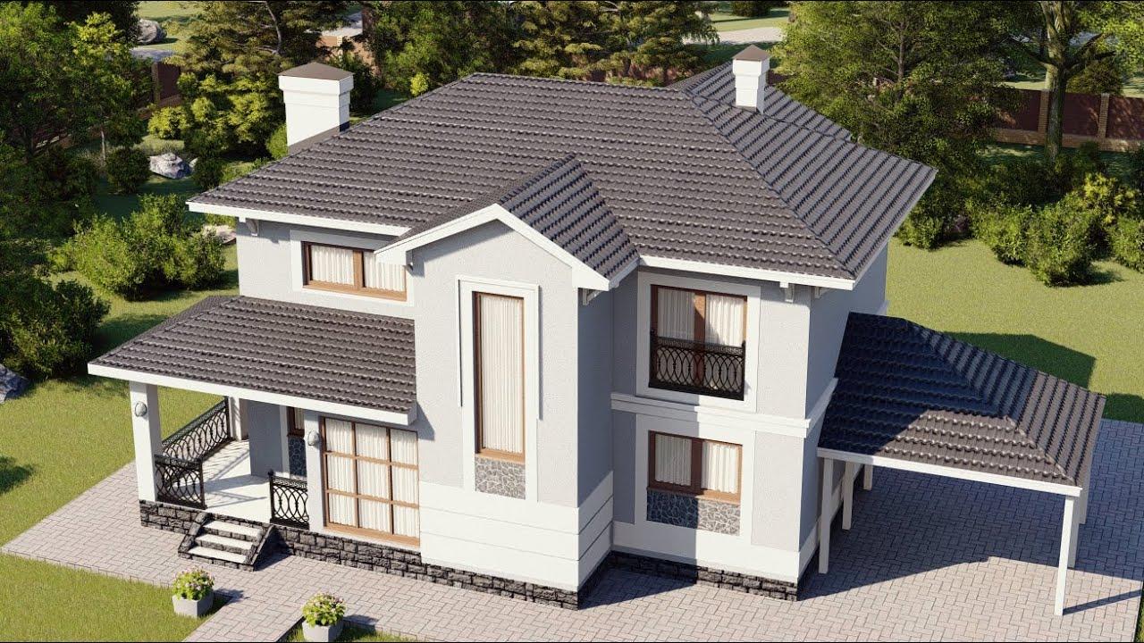 Обзор двухэтажного дома с комфортной планировкой