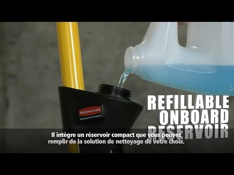 Balai à réservoir Pulse™ et sa frange de lavage Hygen™ - RUBBERMAID