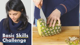 50 People Try to Cut Pineapple Rings   Epicurious