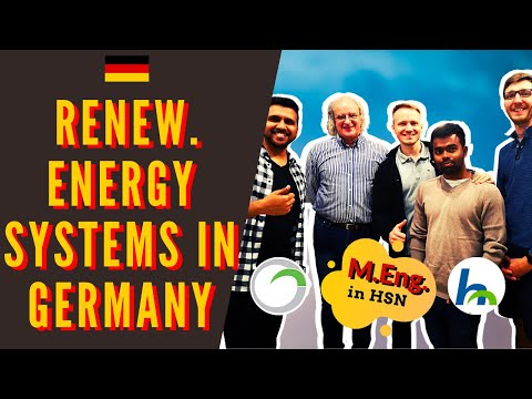 Masters in Renewable Energy Systems in Germany   Hochschule ...