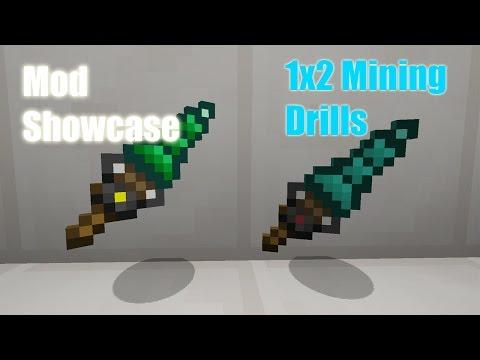 Minecraft PC Mods - The 1x2 Mining Drill Mod!! (Minecraft Mod Gameplay)