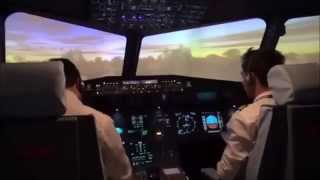 Simulateur de vol en avion Airbus A320