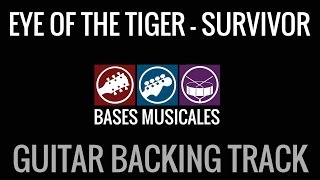 Eye Of The Tiger Backing Track Guitar Base Acompañamiento guitarra