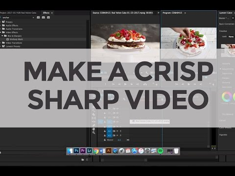 How to Make Crisp Sharp Food Video (with Premiere Pro)