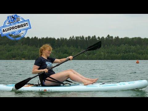 Kajak-Sitz für SUP-Boards AUSPROBIERT - Kajak-Option bei Stand Up Paddle Boards