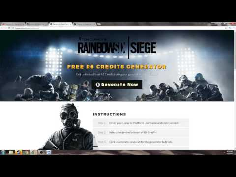 PSA: If you didn't know already - R6 Credit Generators are fake