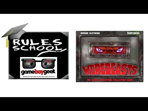 Learn How To Setup & Play Werebeasts (Rules School) with the Game Boy Geek