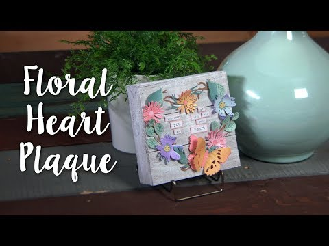 DIY Home Décor: Floral Heart Plaque