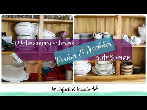 Vorher/Nachher - Wohnzimmerschrank ausmisten und organisieren | Die Ordnungsfee