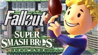 Super Smash Bros Ultimate - DLC Vault Boy FALLOUT vs Everyone! (Nintendo Switch)