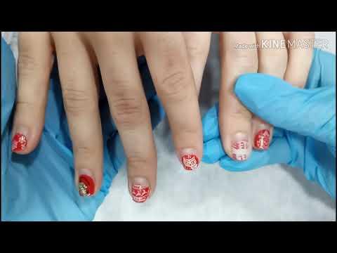 Очень лёгкий дизайн на День Влюблённых 💕 Короткие ногти