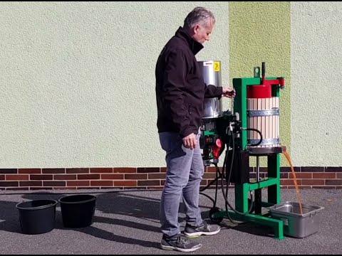 Saftpresse SP30 mit integrierter Obstmühle (Kombimaschine) Produktivdeo
