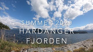 Summer vacation in Norway 2020. The Fjords of Norway. Hardangerfjorden.