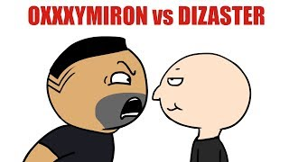 OXXXYMIRON vs DIZASTER ЗА 25 СЕКУНД ! (Мульт)