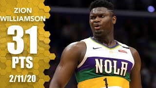 Zion Williamson leads the New Orleans Pelicans to a 138-117 win vs. the Portland Trail Blazers. Williamson records 31 points, nine rebounds and five assists in the game as he joins Kevin Durant, LeBron James and Luka Doncic as the only 19-year-olds with 31-point games in NBA history.  ✔ Subscribe to ESPN+ https://plus.espn.com/ ✔ Get the ESPN App: http://www.espn.com/espn/apps/espn ✔ Subscribe to ESPN on YouTube: http://es.pn/SUBSCRIBEtoYOUTUBE ✔ Subscribe to ESPN FC on YouTube: http://bit.ly/SUBSCRIBEtoESPNFC ✔ Subscribe to NBA on ESPN on YouTube: http://bit.ly/SUBSCRIBEtoNBAonESPN ✔ Watch ESPN on YouTube TV: http://es.pn/YouTubeTV  Exclusive interviews with Rachel Nichols https://urlzs.com/jNURe Stephen A. Smith on ESPN https://urlzs.com/W19Tz  ESPN on Social Media: ► Follow on Twitter: http://www.twitter.com/espn ► Like on Facebook: http://www.facebook.com/espn ► Follow on Instagram: www.instagram.com/f/espn  Visit ESPN on YouTube to get up-to-the-minute sports news coverage, scores, highlights and commentary for NFL, NHL, MLB, NBA, College Football, NCAA Basketball, soccer and more.   More on ESPN.com: https://www.espn.com