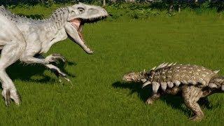Polacanthus vs T-Rex, Indominus Rex, Indoraptor, Spinosaurus & Giganotosaurus (1080p 60FPS)