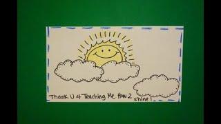 Let's Draw a Thank You Card 4 Teacher !