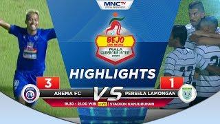 HIGLIGHTS AREMA FC VS PERSELA LAMONGAN (FT:  3-1) - Bejo Jahe Merah Piala Gubernur Jatim 2020
