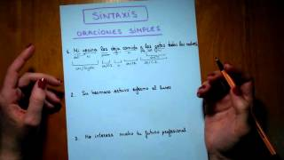 Análisis de oraciones simples 1