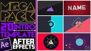 Mejores Intros 2D Editables (GRATIS) | MEGA PACK | After Effects FREE TEMPLATES #1