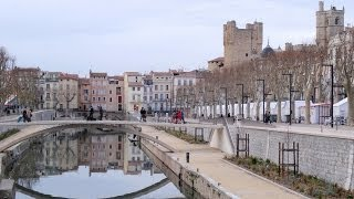 preview picture of video 'Narbonne, Canal de la Robine, Aude, Languedoc-Roussillon, France, Europe'