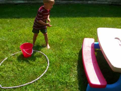 Screenshot of video: Water obstacle course