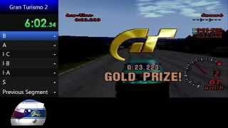 Gran Turismo 2 (PAL) - All Licenses in Gold speedrun sample