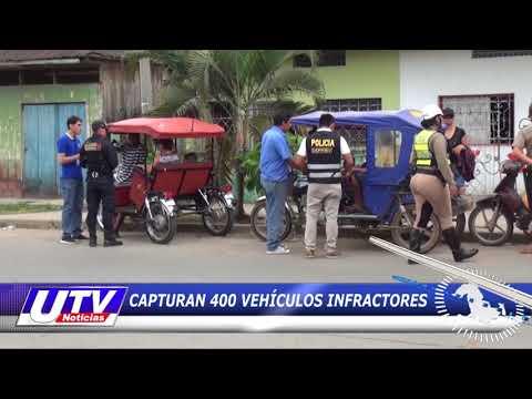 PUCALLPA: CAPTURAN 400 VEHÍCULOS INFRACTORES
