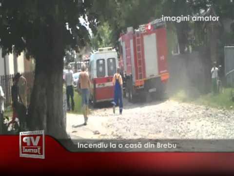 Incendiu la o casă din Brebu