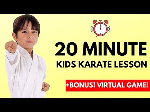 How To Learn Karate For Kids Online | 20 Minute Lesson!