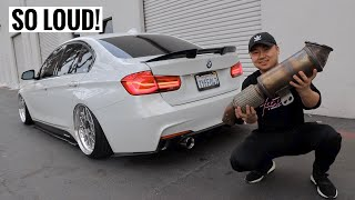 STRAIGHT PIPING A BMW 340i!!
