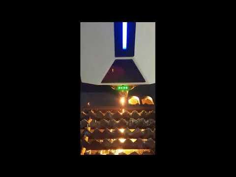 Cięcie stali 16mm laserem fibrowym Weni WS3015H | Steel 16mm cutting by Weni WS3015H fiber laser - zdjęcie