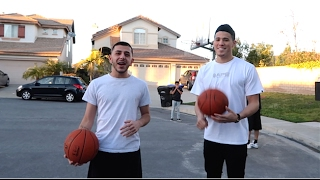 DEVIN BOOKER SURPRISES ME AT HOME (BASKETBALL CHALLENGE)