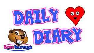 """Daily Diary"" (Level 2 English Lesson 17) CLIP - English Sentences, Days of the Week, Activities"