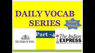 very important vocabs|ssc cgl|upsc|bankpo|in hindi|360 concept tutorial