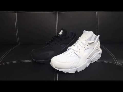 NIKE Air Huarache Sneaker schwarz & weiß DEUTSCH Review | On Feet | Overview | Haul | Outlet46.de