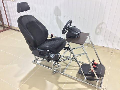 Как я кокпит для Logitech G27 собирал, кресло автосимулятор