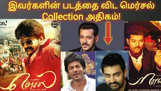 Thalapathy Vijay's Mersal Collection beats Shahruk khan, Salman Khan, Amir khan's Movies Collection.