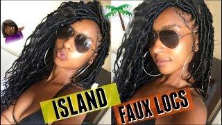 How To: Easy Island Faux Goddess Locs W/ Human Hair  Bohemian Style   IamLindaElaine