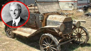 In the barn, they found a Ford Model T, which is over 100 years old. Abandoned Ford Model T.
