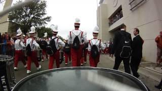 OU Drumline - March to Cotton Bowl Stadium 2014
