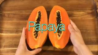 Healthy and delicious papaya boat
