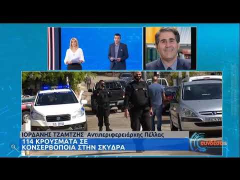 Κορονοϊός : 114 κρούσματα σε κονσερβοποιία στο Μαυροβούνι Σκύδρας στην Πέλλα | 02/10/20 | ΕΡΤ